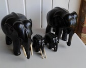 Reserved Lilisas - Vintage Indian Ebony Elephant Famly