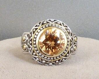 Topaz Rhinestone Ring