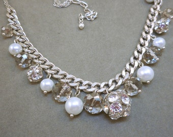 Rhinestone Rondelles Necklace