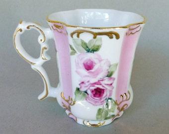 Dark and Light Pink Rose Victorian Mug