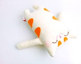 Baby Shower Gifts, Cute Tabby Cat, Toddler Plush Doll, Stuffed Cat, Plush Kitty, Orange, Yellow, Kids Toy - Gift For Kids