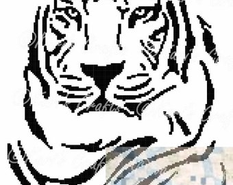 Tiger Silhouette Afghan PDF Pattern GRAPH ONLY - Instant Download