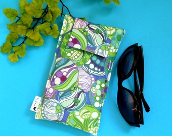 NEW SALE Roomy Sunglasses Case in an Abstract Design