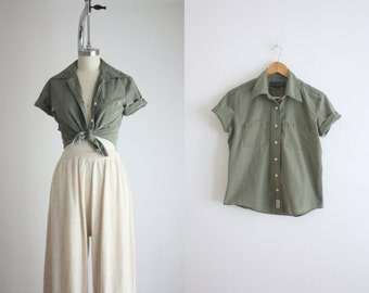 olive drab blouse