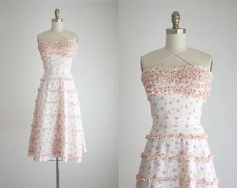 1950s rosebud dress