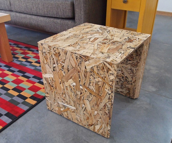 Arch stool modern osb furniture with black accents chair for Table exterieur osb