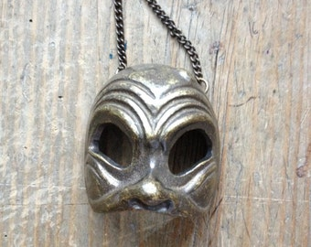 LAST PIECE Wall Hanging Theater Carnival Brass Mask