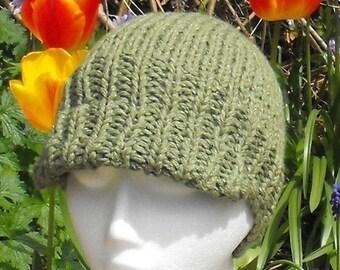 HALF PRICE SALE Madmonkeyknits Superfast Beanie Peak Cap pdf knitting pattern - Instant Digital File pdf download knitting pattern