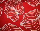 Giant Elephant Ear Red Heavy Weight Fabric Over Two Yards