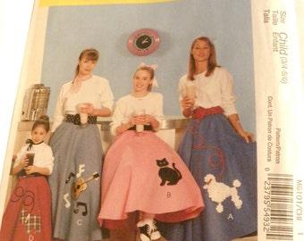 McCall's  6101 Costumes Poodle skirt, scottie dog, cat, guitar  new uncut size 3/4-5/6 2010