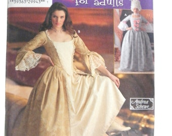 Simplicity 4092 Halloween Costumes Victorian Gown  new uncut size 6, 8, 10, 12 2006