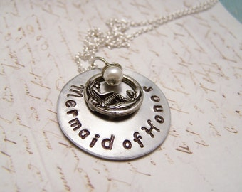 Mermaid of Honor Necklace. Bridal Party Gift. Maid of Honor Gift. Bridal. Wedding. always be a mermaid