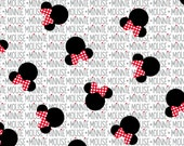 SPRINGS Disney Minnie Mouse Heads and Bows Fabric # 57074G550715 minnie mickey mouse