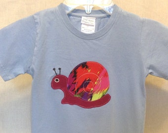 Organic cotton toddler t-shirt designed with a Snail