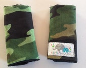 Pick your Size | Carseat Straps | Strap Covers | Camoflauge
