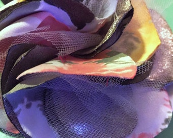 Sparkling Multicolor Hair Flower Clip