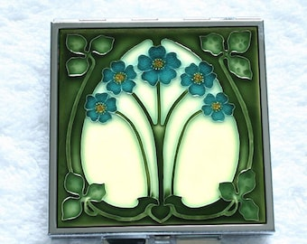 Compact Mirror - An Original Art Nouveau Tile  Design