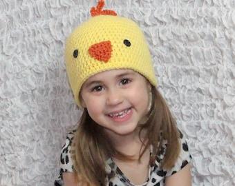 Crochet Easter Chicken Hat Chick Hat Baby Hat Girl Hat Boy Hat Baby Gift Under 50