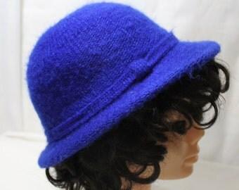 Vintage Arlin Knitted Royal Blue Winter Hat
