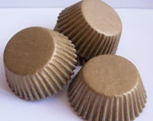 Mini Gold Paper Baking Cups- Choose Set of 50 or 100