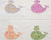 Quilt Blocks Appliqued Baby Whales
