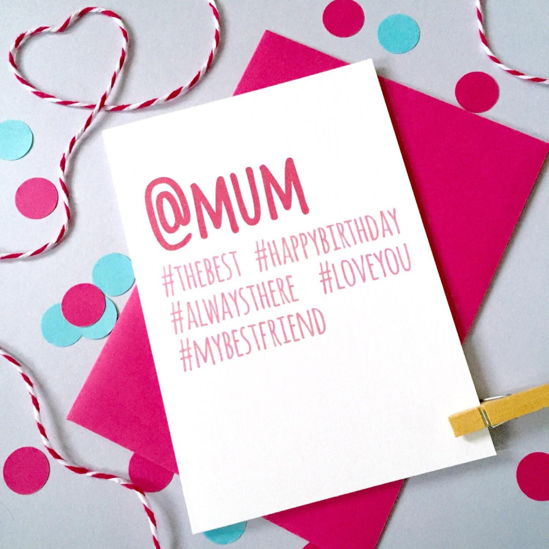 Hashtag Birthday Card Personalised Birthday Card Birthday