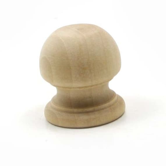 Unfinished wood finial dowel cap end 1 1 16 x 1 inch for Wooden finials for crafts