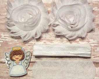 DIY Headband Kit- Little Angel Headband Kit- Makes 1 headband, Do it Yourself- Feltie Headband- Baby Headband Kit- DIY Supplies