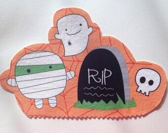 Fabric Iron On Halloween Appliqué