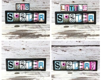 Sister Gift, Sisters Wood Sign, Big Sister Gift, Little Sister, Pregnancy Reveal, Sisters Wall Art, Gifts for Sisters, Sister in Law Gift