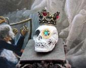 Steampunk Skull Specimen dollhouse miniature in 1/12 scale