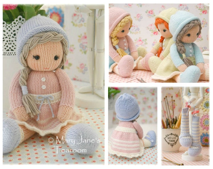 Little Yarn Dolls: Method 2/ PDF Doll Knitting Pattern / Toy Knitting Pattern/ Knitted Dolls/ INSTANT Download