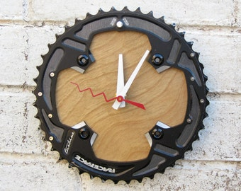 Recycled RaceFace Bicycle Chainring Wall Clock