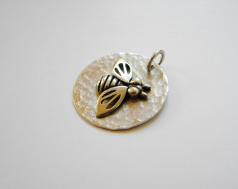 Bee Pendant in Sterling Silver- Beekeeper gift