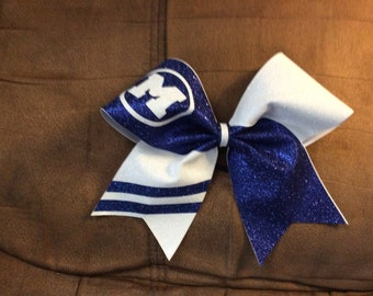 Glitter Cheer Bow Flip Personalized stripe on tail