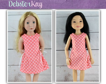 Love U Bunches Party Dress - Doll clothes to fit A Girl For All Time and BFC Ink dolls E61