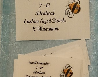 Sample Package Sew On Cotton Custom Sewing Labels 7 - 12 Maximum