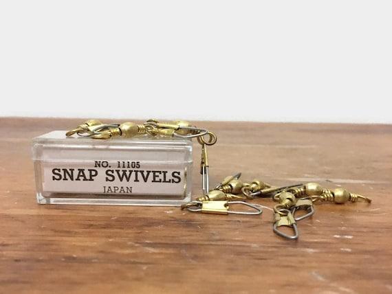 Vintage Snap Swivels - Set of Ten  Size 5 - Made in Japan