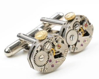 Vintage Watch Movement Steampunk Cuff Links