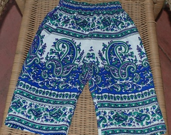 Hippie Kids pants -size 1-Blue Raj-Boys or Girls- Read measurements