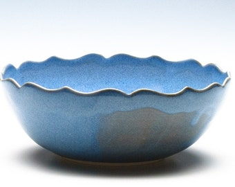 Sky Blue Medium Lotus Bowl