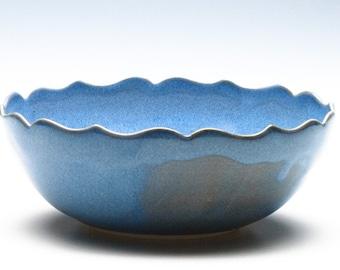 Sky Blue Medium Lotus Bowl