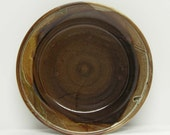 Rich Brown Porcelain Plate Shallow Bowl Serving Dish