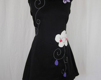 Kyriu cloud dress and wings of black and purple angels