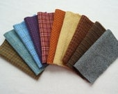 Red - Orange - Yellow - Green - Blue - Purple Hand Dyed and Felted Wool Fabric  Textures - Wool Applique, Rug Hooking, and Quilting