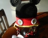 Inspired by Mickey Mouse or Minnie Mouse Photo Prop Winter Hat