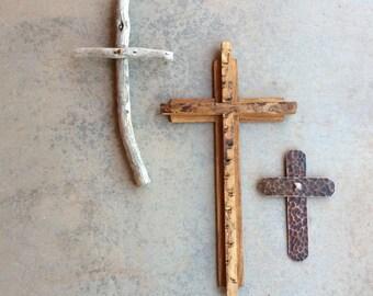 Rustic Wall Crosses/ Set of 3