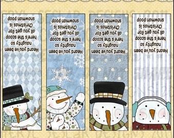 Snowman Poop Tic Tac Wraps - Digital Printable - Immediate Download