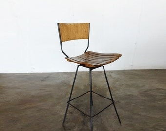 Iron BAR STOOL by Arthur Umanoff
