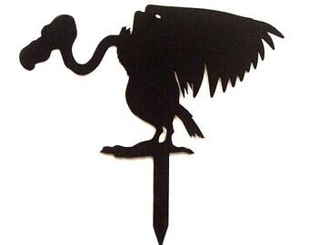Buzzard Vulture Metal Art Halloween Yard Sign - Free USA Shipping